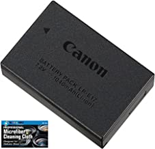 Canon LP-E17 Rechargeable Lithium-Ion Battery Pack for Canon EOS RP, 77D, M6, M5, M3, Rebel T7i, T6i, T6s, SL3, SL2 Camera Kit - Retail Packaging -with Micro Fiber Cloth