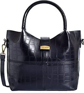 Lino Perros Black Leatherette Handbag
