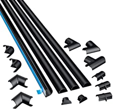 D-Line 2010KIT002 4-Meter Micro Trunking Multipack   Self-Adhesive Cord Cover   Electrical Tidy, Popular Cable Management ...