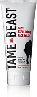Exfoliating Face Wash Tingle Facial Scrub with Peppermint Ginseng Green Tea Caffeine Pomegranate Apple Sugarcane Vitamin E...