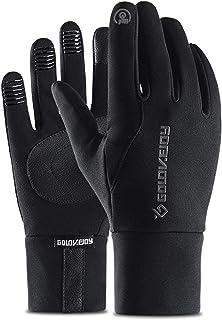 Sugelary Handschoenen, om te fietsen, waterdicht, winddicht, warm, geschikt voor touchscreen, voor heren en dames