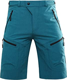 Men Hiking Shorts Lightweight Outdoor Quick Dry Shorts with Zipper Pockets