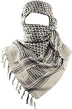 MAGNIVIT 100% Cotton Keffiyeh Tactical Desert Scarf Wrap Shemagh Head Neck Arab Scarf