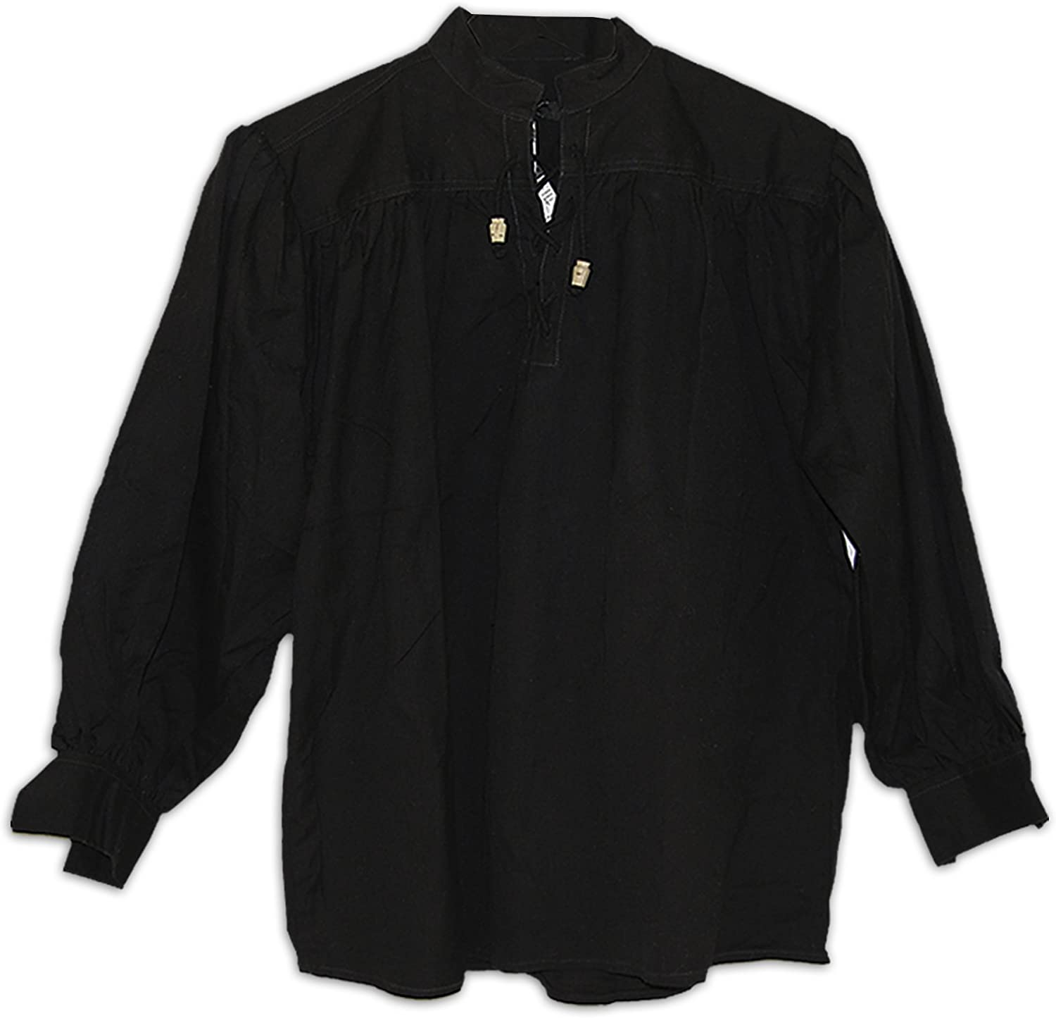 GDFB Cotton Gorgeous Shirt Collarless Laced W Toggles Mail order cheap