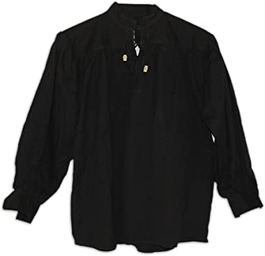 GDFB Cotton Shirt, Collarless, Laced W/Toggles