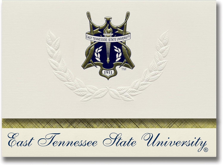 Signature Ankündigungen East Tennessee State University Graduation Ankündigungen, platin Stil, Elite Pack 20 mit East Tennessee State u. Dichtung Folie B0793NHSDQ  | Reichlich Und Pünktliche Lieferung