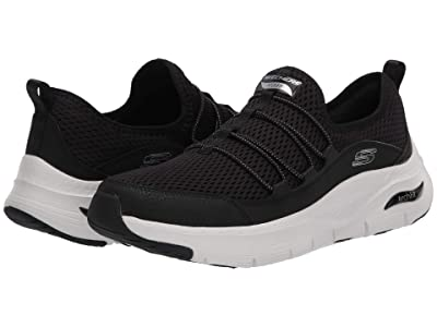 SKECHERS Arch Fit Lucky Tho (Black/White) Women