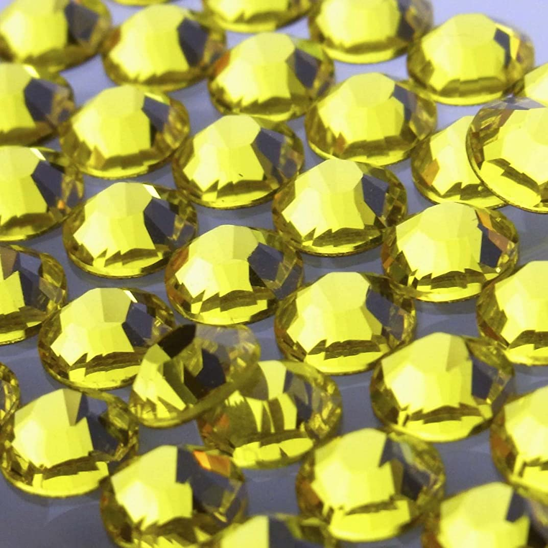 サスペンドびっくり祖先Hotfixシトリンss16(50粒入り)スワロフスキーラインストーンホットフィックス