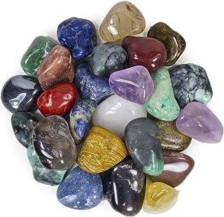 """Hypnotic Gems 3 Pounds Brazilian Tumbled Polished Natural Stones Assorted Mix - Medium Size - 1"""" to 1.5"""" - Average 1.25"""""""