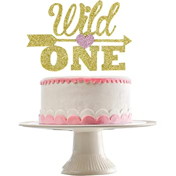 SHAMI Gold Glitter Wild One Cake Topper Gold Boho Tribal First Birthday 1st Birthday Decorations Arrows Multicolor Balloon wild one birthday decorations
