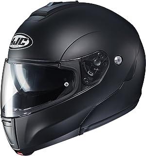 HJC Helmets Unisex-Adult flip-up-Helmet-Style CL-MAX3 Semi Flat (Black, XXX-Large)