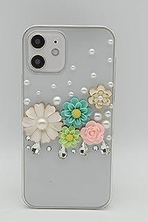 【Yoco Joy】Galaxy S6 edge SCV31 au専用デコ ケース【花 パール】通販 ブランド 保護フィルム付き!デコ