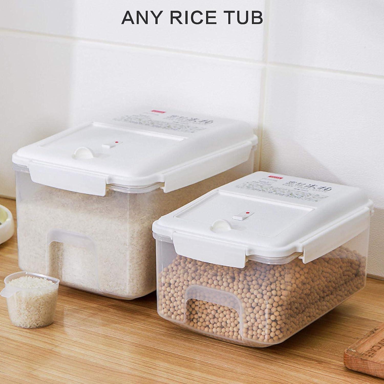 JYuanzshi Reis-Aufbewahrungsbeh/älter mit Skala und Messbecher 5 kg luftdicht geeignet f/ür Getreide//Reis//Mehl versiegelte Aufbewahrung