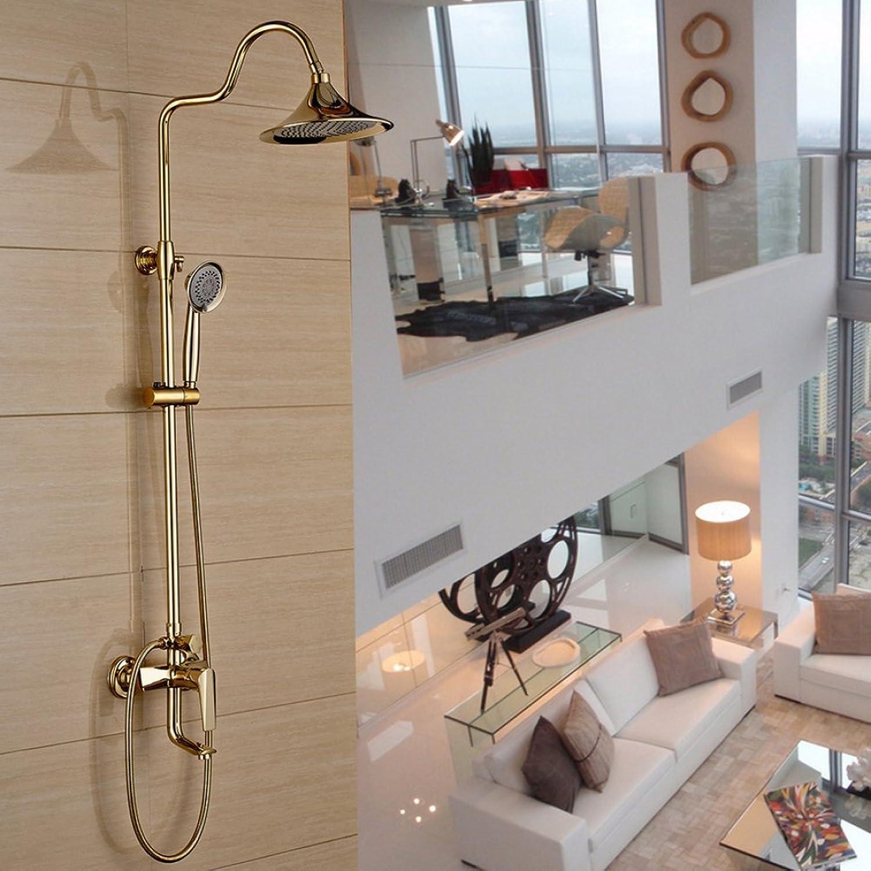 HH Dusche-Set Vollkupfer Bad Dusche Set Bad warm und kalt Wasserhahn Dusche Wand Dusche Handbrause