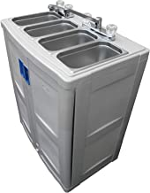 Portable Sink with hot water Mobile Concession 4 Compartment