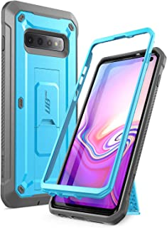 case for Galaxy S10 Plus, SUPcase Unicorn Beetle Pro Full-Body Rugged Holster case Black