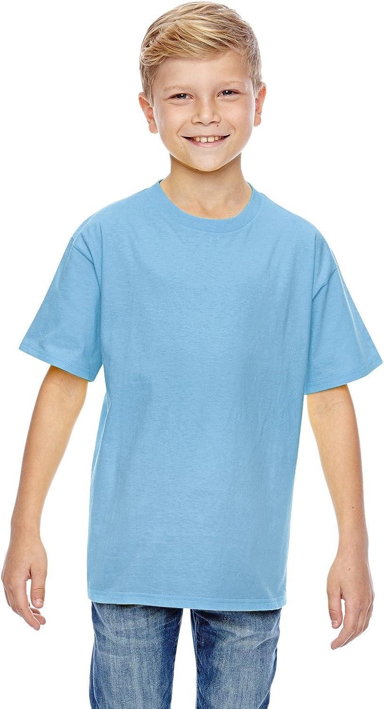 Hanes Youth 45 oz, 100% Ringspun Cotton nano-T T-Shirt - LIGHT BLUE - M - (Style # 498Y - Original Label)