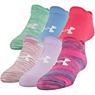 Under Armour Youth Essential No Show Socks, 6-Pair