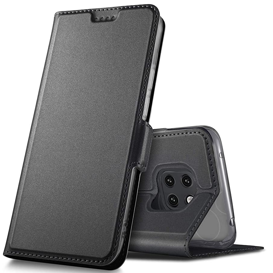 Huawei Mate 20 pro case, KuGi Huawei Mate 20 pro case, Ultra-Thin DD Style PU Cover + TPU Back Stand Case for The Huawei Mate 20 pro Smartphone(Black)