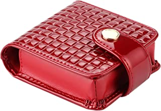 kilofly Genuine Leather Double Lipstick Case Cosmetic Makeup Holder + Gift Box