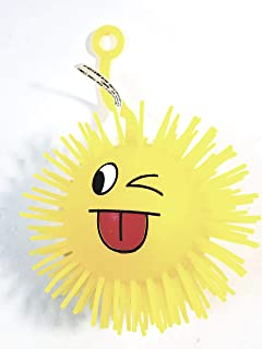 Spikey Yellow Emoji Winking Tongue Out Silly Face 3