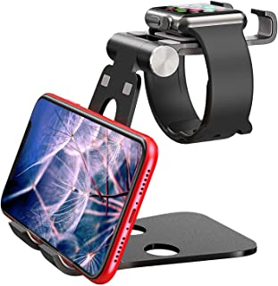 Tablet Stand, Double Foldable Pad Stand, Abjustable Stand SmartPhone Holder Nintendo Switch Mounts Brackets for Apple Wacth Charger Phone/Tablet/Iwatch Stand 3-in-1