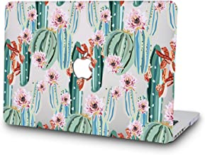 DTangLsm Waterproof Antifinger Hard Case Cover Shell for 15 Inch New Version MacBook Pro with Touch Bar Model A1707(2018/2017/2016 Release) and Model A1990(2019 Release) (Colorful Cactuses)