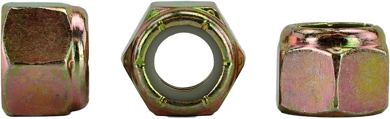 600Pcs Nyloks Assortment Kit Grade 8 Nylon Insert Hex Lock Nut Zinc Plated