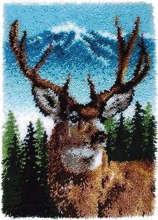 X-xyA Handicraft Latch Hook Kits, Big Size DIY Rug Crochet Yarn Cushion Handmade Carpet,33.8 x 24.4 Inch
