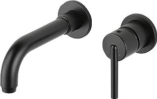 Delta Faucet T3559LF-BLWL Trinsic Single Handle Wall Mount Lavatory Faucet Trim, Matte Black,