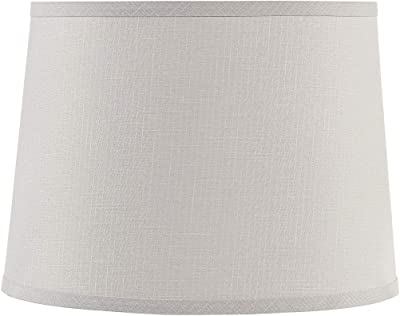 "Aspen Creative 32955 Transitional Hardback Empire Shaped Construction Light Grey, 14"" Wide (12"" x 14"" x 10"") Spider LAMP Shade"