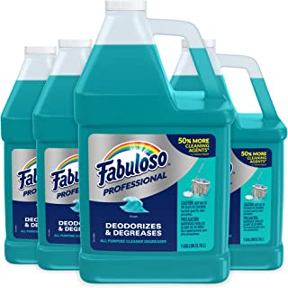 FABULOSO Professional All Purpose Cleaner & Degreaser, Ocean Cool, Concentrated Formula, Bathroom Cleaner, Toilet Cleaner,...