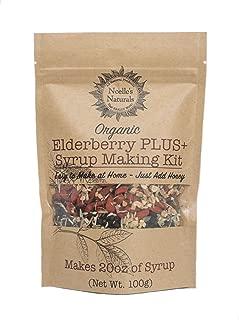 Organic Elderberry Plus+ DIY Syrup Making Kit - Dried Black Elder berry - Elderberries - Cloves - Ginger - Cinnamon Stick - Goji Berries - Echinacea - Astragalus - Rose Hips - Makes 18-20oz