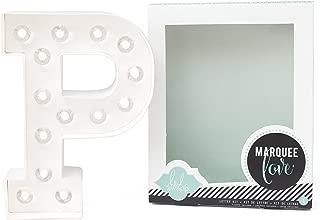 Heidi Swapp Marquee Love Led Letras P, Cartón, Blanco, 21.6x5.6x21.6 cm