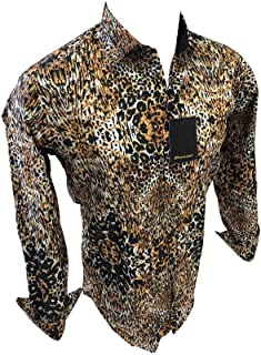 Flash Apparel Mens Premiere Long Sleeve Paisley Button Down Dress Shirt