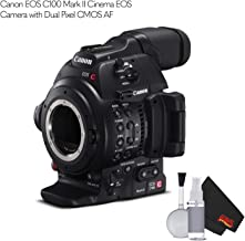 Canon EOS C100 Mark II Cinema EOS Camera 0202C002 with Dual Pixel CMOS AF (Body Only) - (International Version)