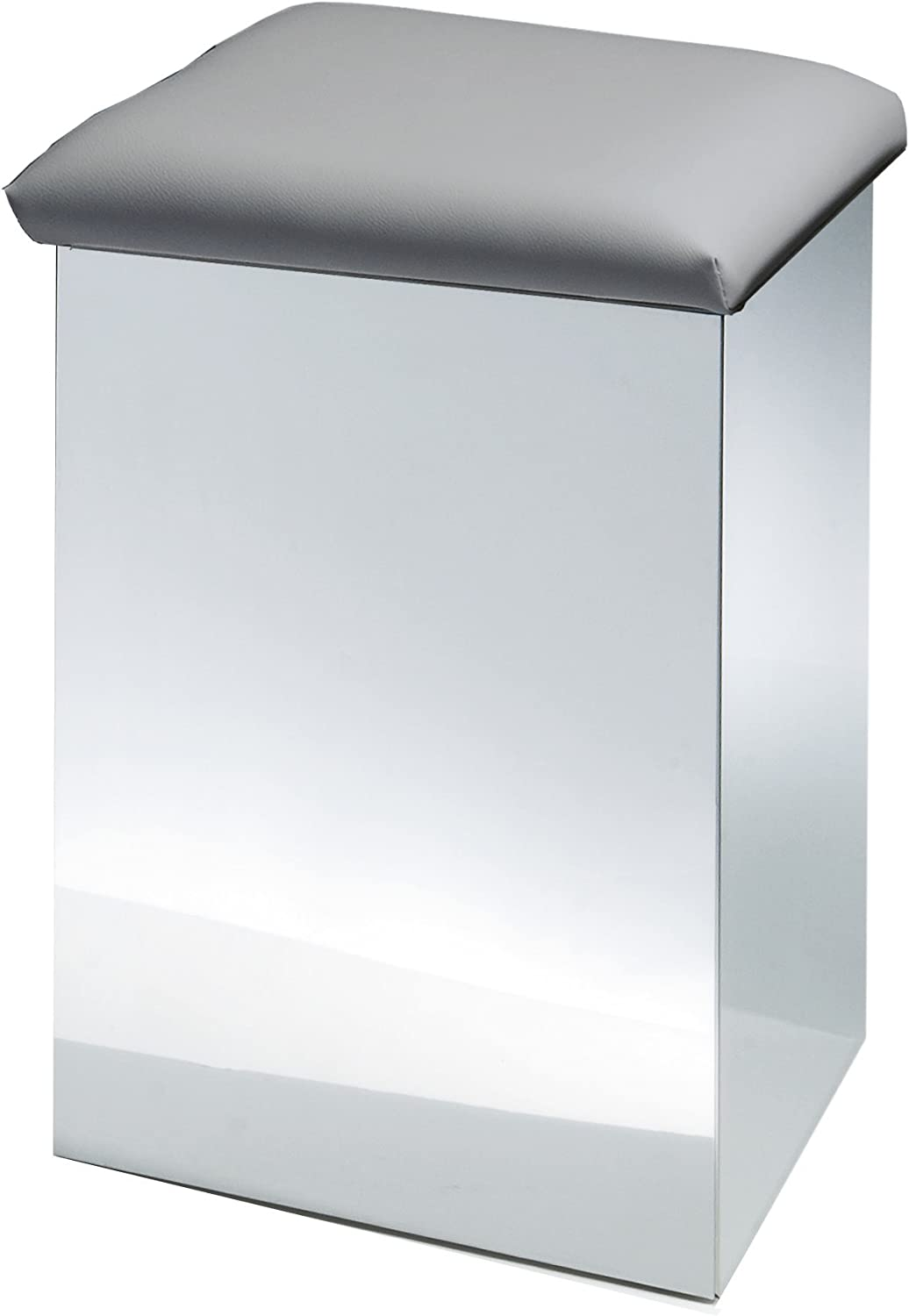 DWBA Hamper Stool Bench Laundry 67% OFF Max 43% OFF of fixed price Chrome Steel Basket Artific