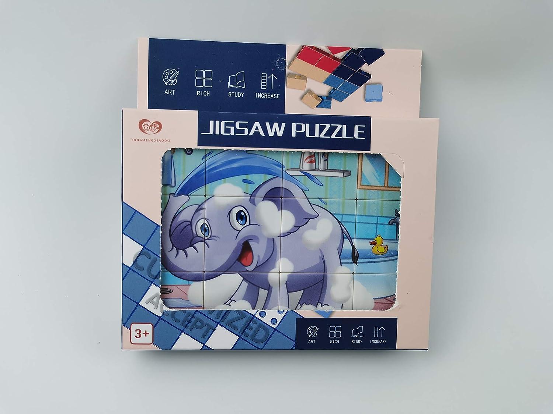 Panda TMXD 12 Pcs Chidrens Puzzles Blocks Early Educational DIY Toys Set for Kids
