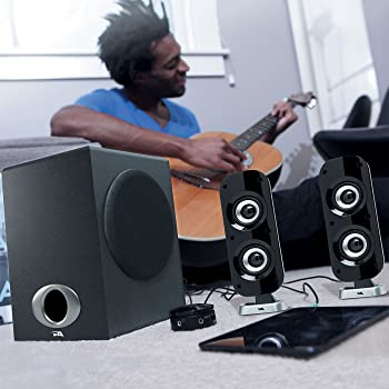 Cyber Acoustics High Power 2.1 Subwoofer Speaker System with 80W of Power – Perfect for Gaming, Movies, Music, and Mu...