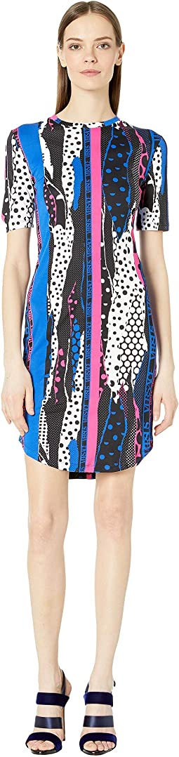 Jersey Abstract Print Dress