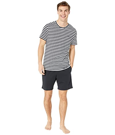 HOM Silversea Short Sleepwear (Navy/White) Men