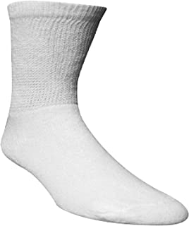 3 Pairs of Bariatric Extra Wide Socks,Men and Women,White,Non-Binding,Tired,Achy feet