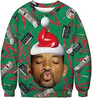 KSJK Unisex Funny Print Ugly Christmas Sweater Jumper
