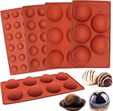 5pcs Sphere Silicone Molds, Premium Silicon Dome mold Baking Semicircle Mould for Chocolate, Cake, Jelly, Pudding, Handmad...