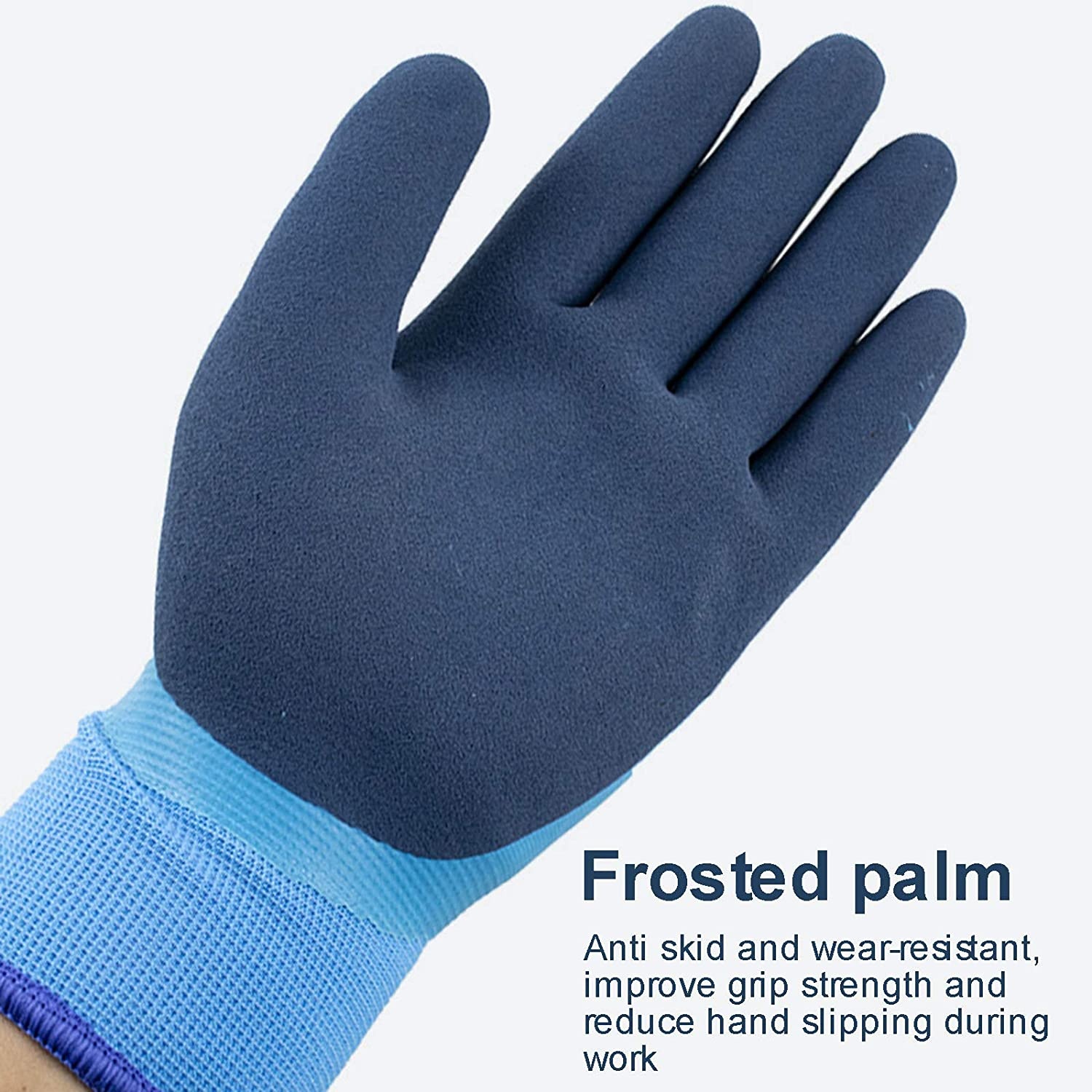 Work Gloves for Men Cold Weather with Grip, Waterproof, Winter Warm, Outdoor Multi-Purpose
