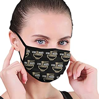 Anti-Dust Adjustable Elastic Strap Face Mask for Women Men Kids, Noods Ramen Noodles Reusable Half Face Mouth Mask for Pollen Smog, Dental, Running - Anti Pollution