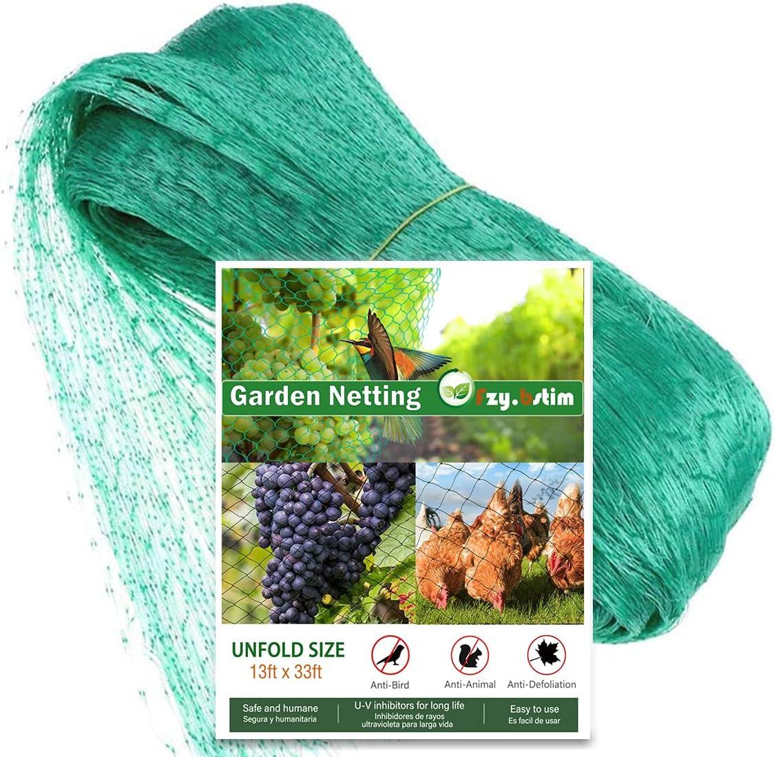 Garden Mesh Netting,Brid Anti Plant Covers Netting for Protect Vegetable Fruits Flowers Crops Greenhouse Row Cover Protection Mesh Net Covers Patio Screen Barrier Net,13x49Ft-0.59
