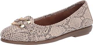 حذاء باليه مسطح من Aerosoles للسيدات، ثعبان، مقاس 9 أمريكي