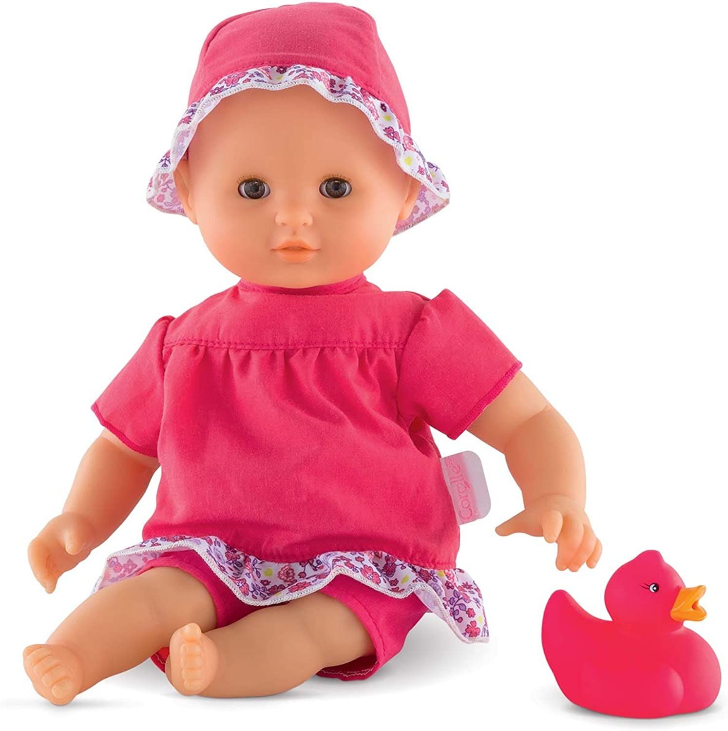 Cgoldlle Mon Premier Poupon Bebe Bath Flowers Toy Baby Doll, Pink