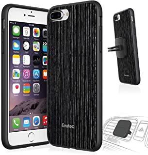 Evutec iPhone 7 Plus AER Wood Cell Phone Case [Vent Mount Included] - Black Apricot